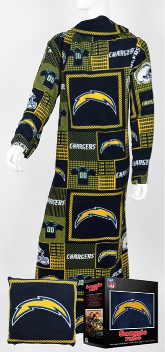 San Diego Chargers Snuggie Pillow