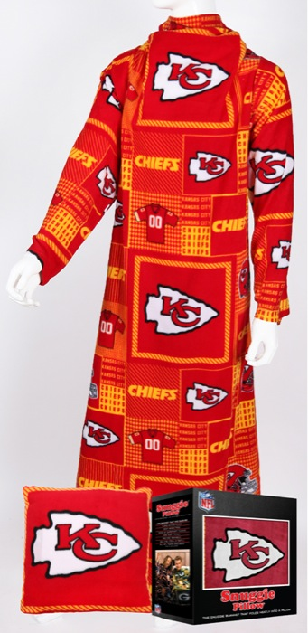 Kansas City Chiefs Snuggie Pillow