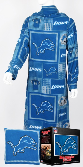 Detroit Lions Snuggie Pillow